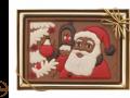Czekoladowa karta z Mikołajem