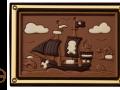 czekoladowa karta statek