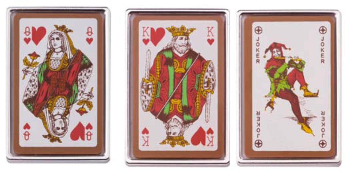 Czekoladowe karty 3 wzory 25g.