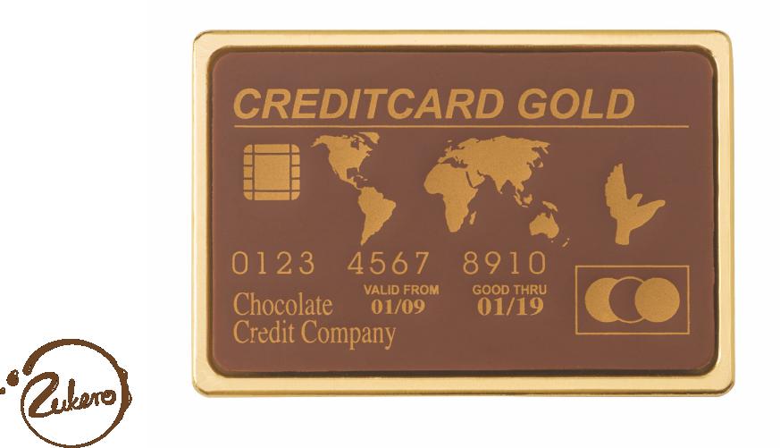 czekoladowa karta kredytowa