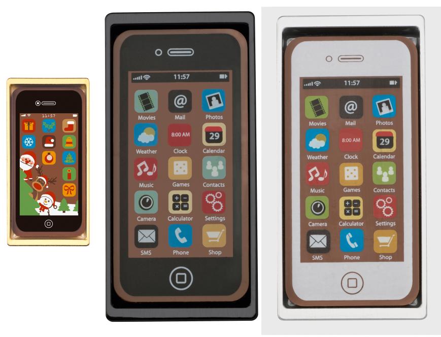 smartfon czekoladowy