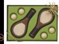 Czekoladowy zestaw piłki i rakiety do tenisa