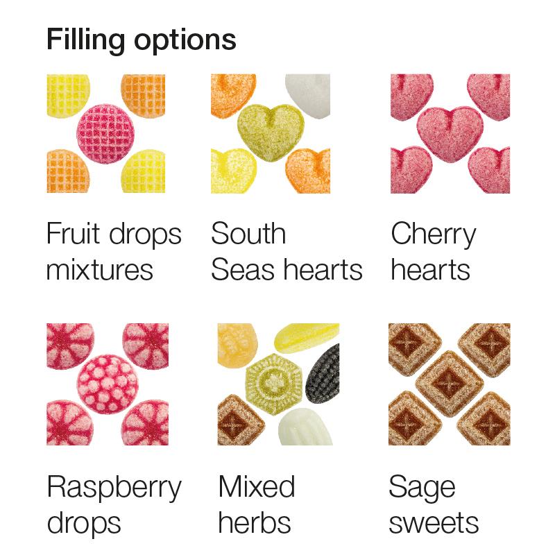 cukierki owocowe z logo