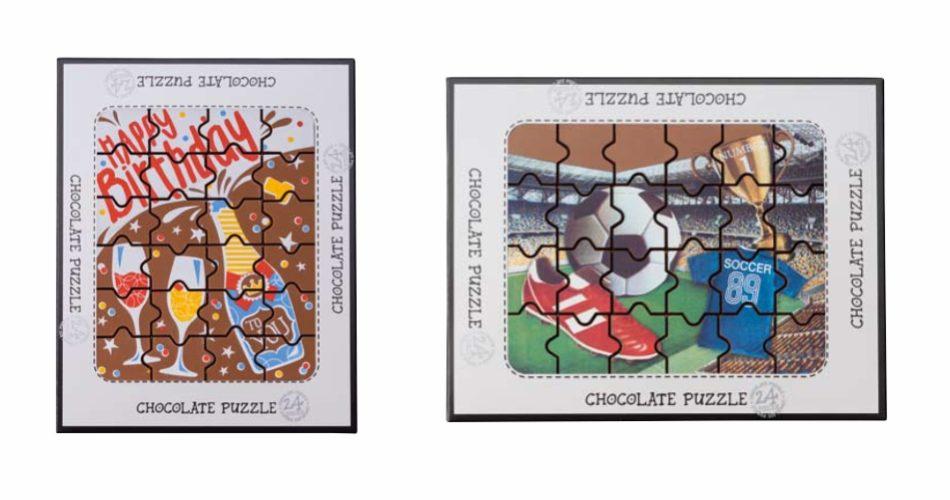 puzzle czekoladowe z nadrukiem