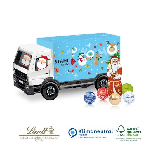 Ciężarówka lindt z logo