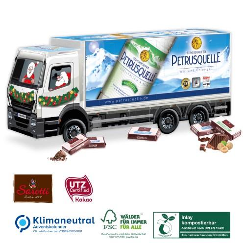 Ciężarówka kalendarz adwentowy z czekoladkami